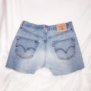 Levi's 501 cutoff faded blue jean shorts vintage
